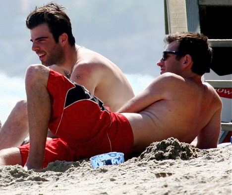 Zachary Quinto and boyfriend