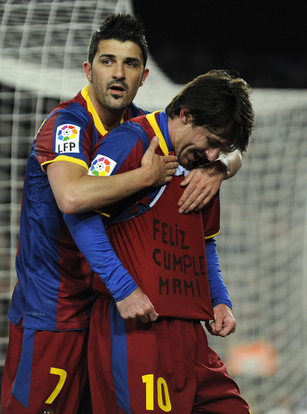 Lionel Messi David Villa